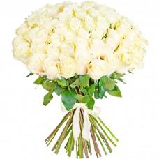 Букет из 51 белой розы